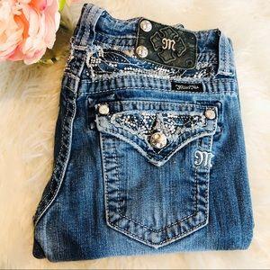 MISS ME Bootcut Rhinestone Jeans size 27